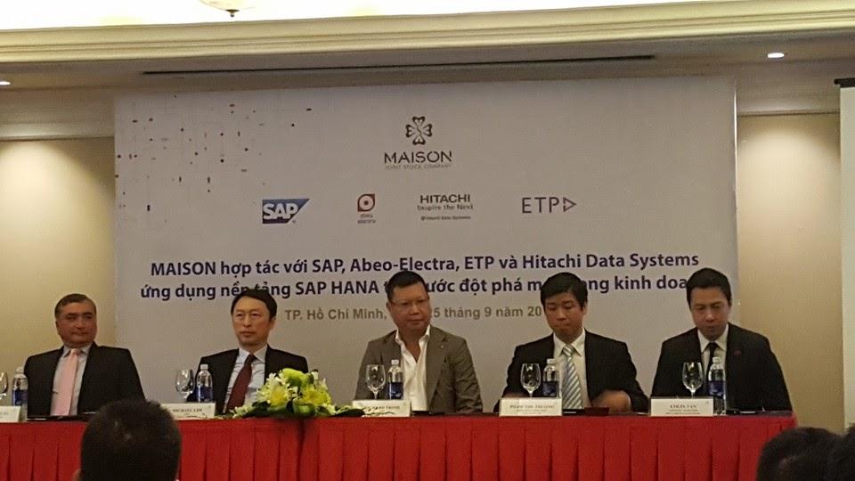 Maison hợp tác với SAP, ABEO triển khai SAP HANA cho bước đột phá mới của ngành thời trang.